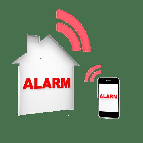 Smart Home Alarmsystem Alarmanlage Funkalarmanlage Smartphone nachricht
